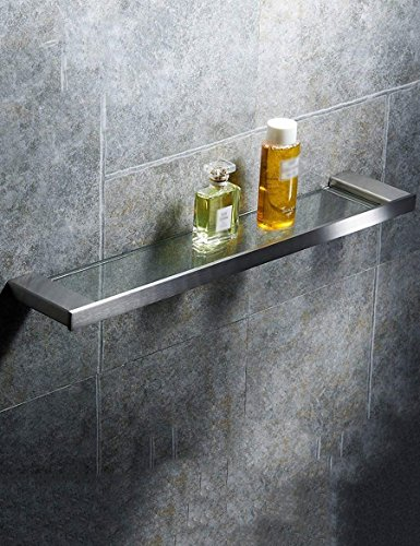 Front De Li Tray - L.I. Shower Extremely Farm in Stainless Steel Glass Tray Table washroom in The Rack Front Frame Single Mirror ensuring The Quality (Size: 4511cm)