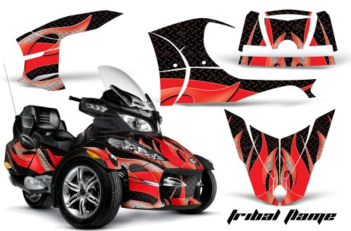 AMR Racing Graphics Can-Am Spyder RT-S Roadster Vinyl Wrap Kit - Tribal Flames Red Black by AMR Racing (Image #1)