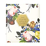 C.R. Gibson Refillable Address Book, Measures 6.5 x 7.25' - Floral Geo