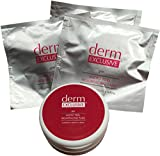 Derm Exclusive Micro Peel Resurfacing Pads-3 Packs of 15 Count Pads + Storage Container (45 pads total)
