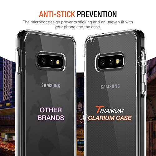 Trianium Clarium Case Designed for Galaxy S10e Case (2019) - Clear TPU Cushion/Hybrid Rigid Back Plate/Reinforced Corner Protection Cover for Samsung Galaxy S10e Phone(PowerShare Compatible)
