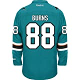 San Jose Sharks Brent BURNS #88 Official Home Reebok NHL Hockey Jersey (SEWN TACKLE TWILL NAME / NUMBERS)