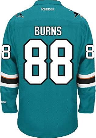San Jose Sharks Brent BURNS  88 Official Home Reebok NHL Hockey Jersey (SEWN  TACKLE TWILL NAME   NUMBERS)  Amazon.ca  Sports   Outdoors 7cd41d898