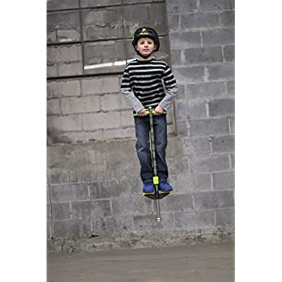 Flybar Propel Pogo Stick for Kids Boys & Girls Ages 5 & Up 40 to 80 Pounds - New Bright & Vibrant Designs with Comfortable & Safe Rubber Hand Grips - Comes in 3 Exciting Colors: Toys & Games