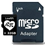 LoveRPi Plug and Play Raspbian UHS-I MicroSD Card with SD Adapter for Raspberry Pi (32GB, Raspbian Desktop)