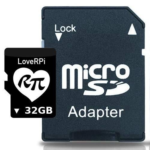 LoveRPi Plug and Play Raspbian UHS-I MicroSD Card with SD Adapter for Raspberry Pi (32GB, Raspbian Desktop)