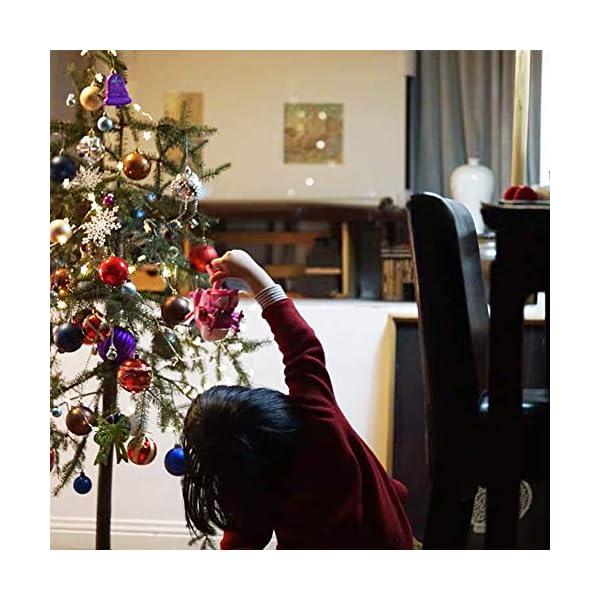 gotyou 30 Pezzo Palline di Natale, Accessori Decorativi per L'Albero di Natale, Natale Ornamento Bagattelle Albero, Porta Applique Ornamenti Decorazioni Albero Palle Decorative Festa 5 spesavip