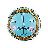 Almohada para Niños Niños Cojín Baby Decoración para Hogar Sofá(Blue Lion)