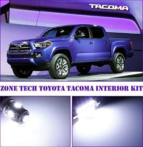 zone tech 2005 and up toyota tacoma xenon white 3 piece led interior kit automotive bulb package. Black Bedroom Furniture Sets. Home Design Ideas