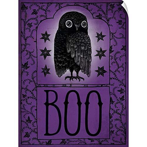 CANVAS ON DEMAND Vintage Halloween Boo Wall Peel Art Print, 18