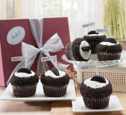 Cupcakes Gift Baskets Dulcet Cookies And Cream-6 (Cream Belgian Chocolate Cookies)