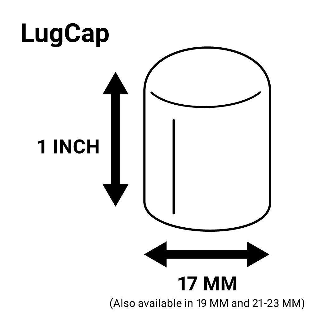 ColorLugs Vinyl LugCap Lug Nut Cover Black Flexible Fit Lug Nut Cap Pack of 20 /& Deluxe Extractor Made in the USA Available in a Variety of Colors and Sizes Fits 17mm wide x 1 Inch deep