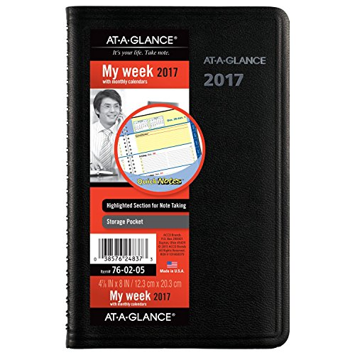 AT-A-GLANCE Weekly / Monthly Appointment Book / Planner 2017, QuickNotes, 4-7/8 x 8