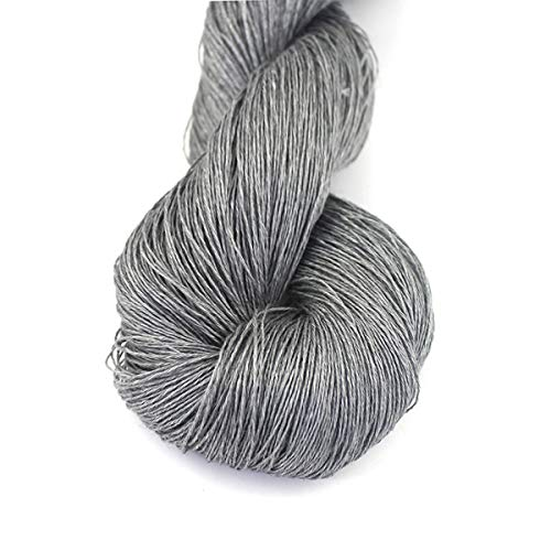 Lotus Yarns 100% Natural Linen Lace Weight Hand Knitting Crochet Yarn 50g/Hank for Summer Fashion Garments Baby Clothes Soft and Cool (4)