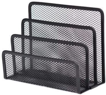 Nightkids Metal Combined Collection Stacking Classifier Mesh Erected Desktop File Organizer 4 Column File Letter Tray Storage Box Hollow Ventilation Desk Organizer / Nightkids Metal Combined Collection Stacking Classifier Mesh Erec...