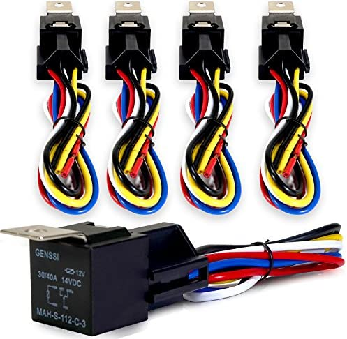 Amazon.com: Genssi 30/40 AMP Auto LED Light Bar Relay Wiring Harness SPDT  12V 40A (Pack of 5): AutomotiveAmazon.com
