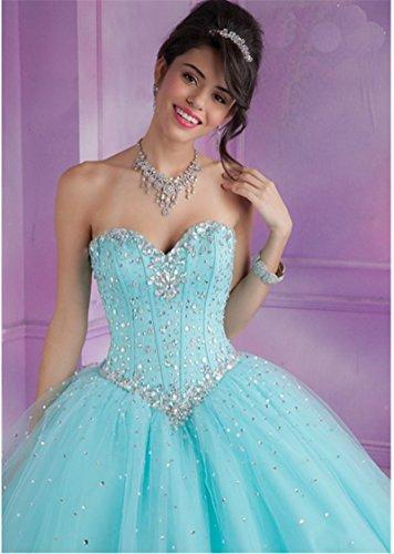 Delle Da Perline Sfera Promenade Dell'abito Vestito Di Tulle Donne Vestito Lungo Di Quinceanera Angela Avorio AaZnpx7W