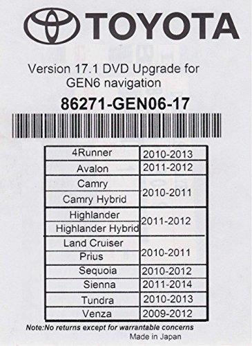 2018 Toyota Navigation DVD Gen 6 U99 17.1 Road Map GPS (Toyota Prius Navigation)