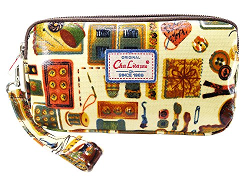 bdj-multi-function-printed-oil-coat-fabric-bag-wristlet-purse-wallet-pouch-sewing-kit