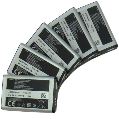 - New Samsung AB663450BA OEM Battery for Samsung Rugby II A847 Lot of 5