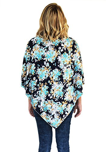 navy floral multi functional nursing cover poncho maternity postpartum top swaddle carseat. Black Bedroom Furniture Sets. Home Design Ideas