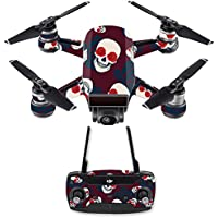 Skin for DJI Spark Mini Drone Combo - Skulls N Roses| MightySkins Protective, Durable, and Unique Vinyl Decal wrap cover | Easy To Apply, Remove, and Change Styles | Made in the USA