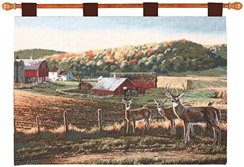 Manual Woodworkers Weavers Harvest Time Tapestry 36 x26