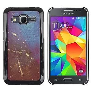 Paccase / Dura PC Caso Funda Carcasa de Protección para - Painting Wall Art Scratched Interior Design Shabby - Samsung Galaxy Core Prime SM-G360