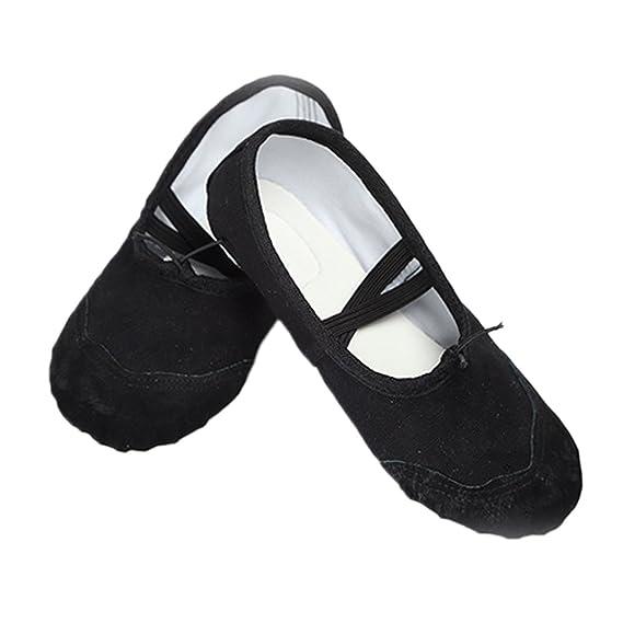 Vococal Zapatillas de Ballet, Zapatillas de Baile de Lona Clásicas Zapatillas de Baile,Zapatos