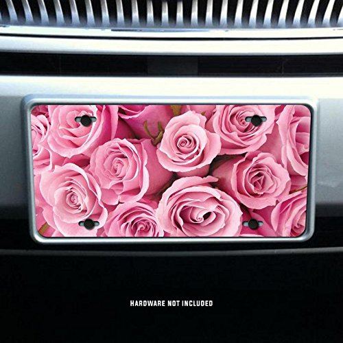 KCD Beautiful Pink Rose Bouquet Vanity Front License Plate Tag Printed Full Color KCFP050