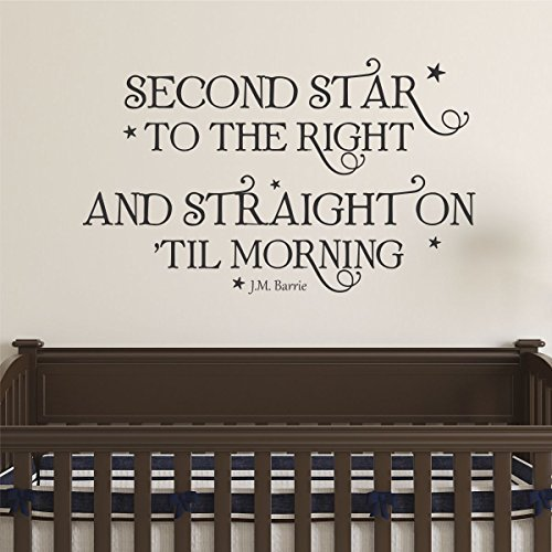 - Ditooms Neverland Wall Decal Second Star To The Right Wall Quote Peter Pan Whimsical Nursery Decal Quote Kids Wall Art Decor Vinyl Wall Decal