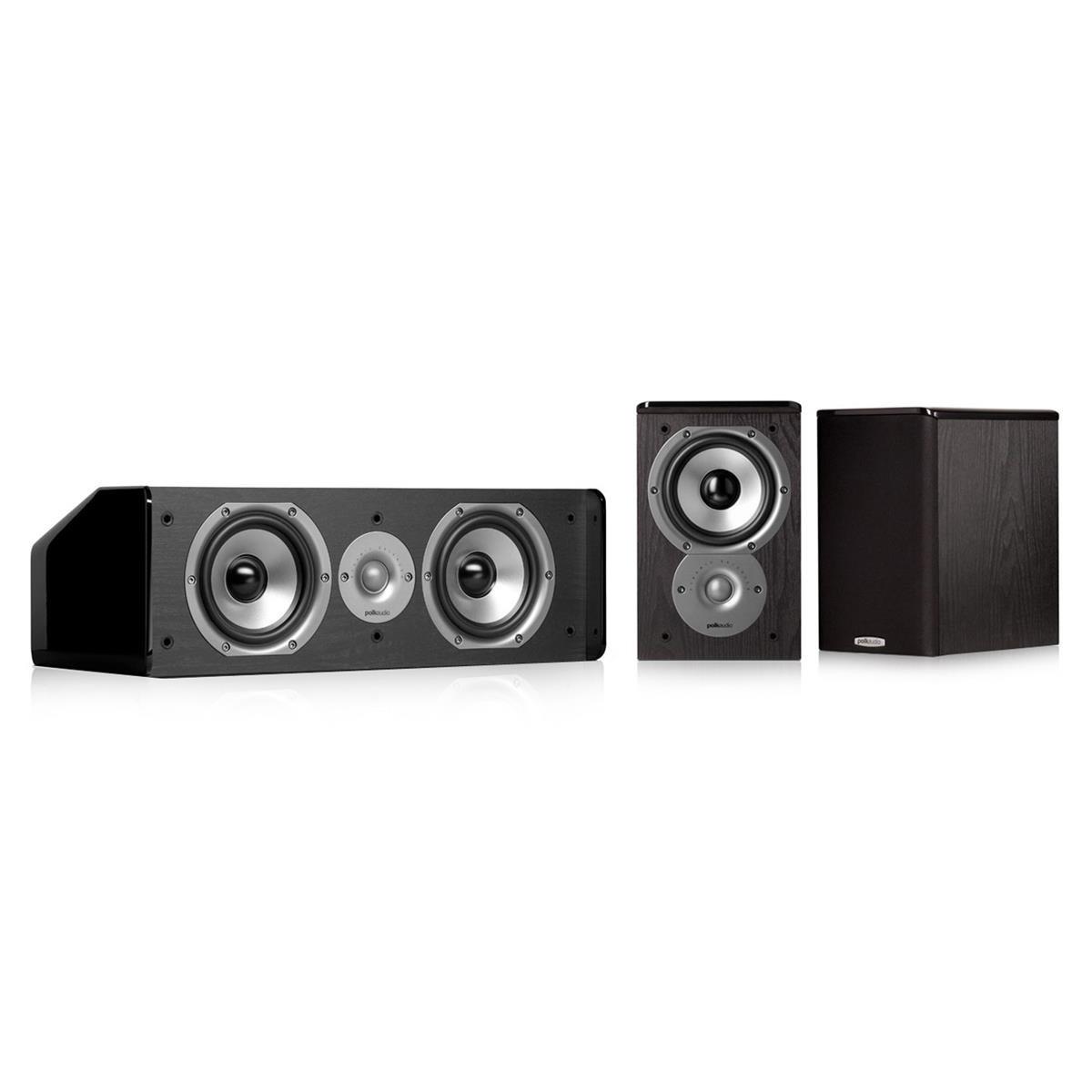 Polk Audio TSi100 3.0 Home Theater Speaker Bundle (Black) by Polk Audio