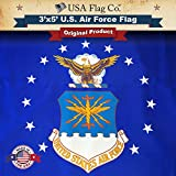 USA Flag Co. US Air Force Flag by is 100% American Made: The BEST 3×5 Outdoor USAF Flags, (Made in USA) for Prime Members and Amazon A to Z Guarantee. Review