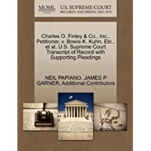 Charles O. Finley & Co., Inc., Petitioner, v. Bowie K. Kuhn, Etc., et al. U.S. Supreme Court Transcript of Record with Supporting Pleadings