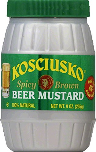 Kosciusko Beer Mustard, 9-Ounce Jars (Pack of 6)