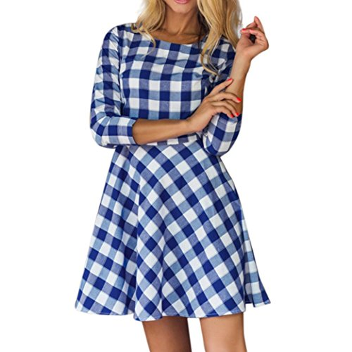 blue gingham dress size 12 - 3