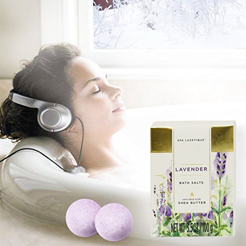Spa-Luxetique-Spa-Gift-Basket-Lavender-Fragrance-Luxurious-8pc-Gift-Baskets-for-Women-Cute-Bath-Tub-Holder-Bath-Gift-Set-Includes-Shower-Gel-Bubble-Bath-Bath-Salts-More-Best-Holiday-Gift-Set