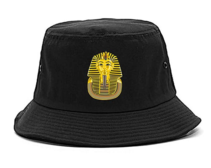 5da73a3809c Amazon.com  Kings Of NY Pharaoh Egypt Gold Egyptian Head Bucket Hat ...