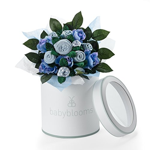 Beautiful Baby Flower Bouquet (HAND TIED BOUQUET - BLUE)