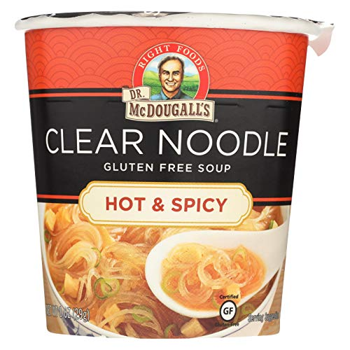 Dr McDougalls Hot and Spicy Clear Noodle Asian Soup, 1 Ounce - 6 per - Split Pea Free Soup Gluten