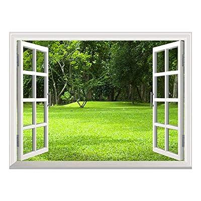 Removable Wall Sticker/Wall Mural - Garden Green Grass   Creative Window View Wall Decor - 36