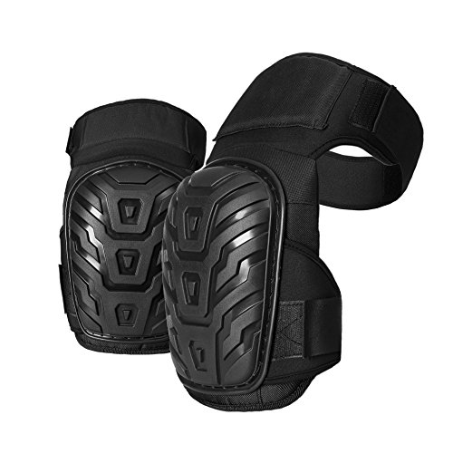 Professional Knee Pads for Work - Heavy Duty Foam Padding Kneepads for Construction, Gardening, Flooring with Comfortable Gel Cushion to Save Your Knees (Thigh High)