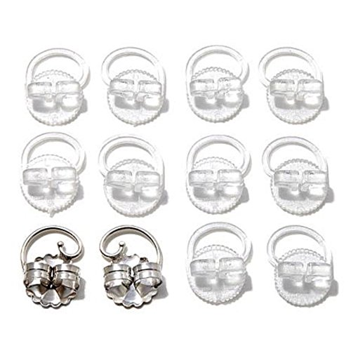 (Christmas Sale Levears Sterling Silver and Plastic Earring Lifts - Set of 6 Retail $199)