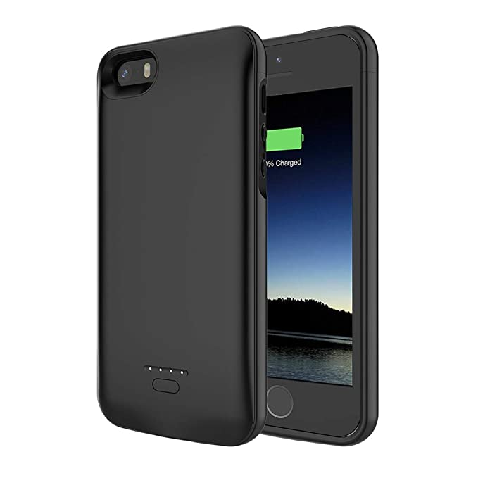 sports shoes 4d150 e3d65 Battery Case for iPhone 5/5S/SE, SNSOU 4000mAh iPhone SE Battery Charging  Case for iPhone 5 SE 5S Magnetic Charger Case Protective Backup Power Case  ...