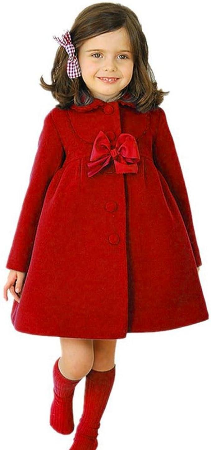 Carolilly Langarm Jacke Baby M/ädchen Mantel Kinder Schneeanzug Warmes Oberteil Herbst Winter