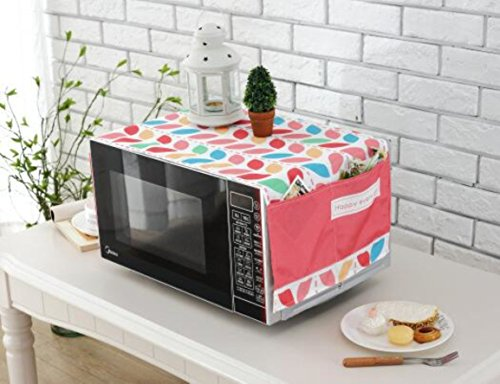 Polyester Fiber Household Pocket Microwave Oven Dust-Proof Cloth Cover (Style G) by lskitchen (Image #1)
