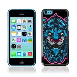 YOYOSHOP [Cool Neon & Blue Tiger Illustration] Apple iPhone 5C Case