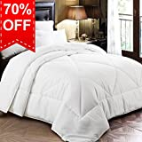 Twin Comforter Duvet Insert with Corner Tabs for Duvet Cover, Snow Goose Down Alternative, Hotel Collection Comforter Reversible, Hypoallergenic, 64 by 88 inches, White