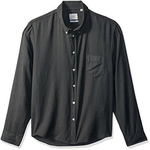 Billy Reid Men's Standard Fit Cotton Cashmere Button Down Liam Shirt, sage, M ()
