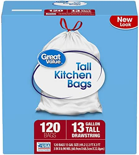 Trash Bags: Great Value Tall Kitchen Bags